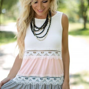 Sweet Country Tank in Peach