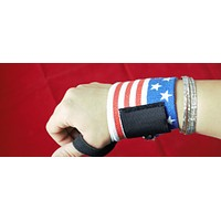 Wrist Support Training Weight Lifting Straps Pair Hand Bar american flag