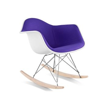Eames Upholstered Armchair With Rocker Base by Hive Modern