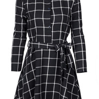 Cupshe All I Want Black Plaid Shirt Dress