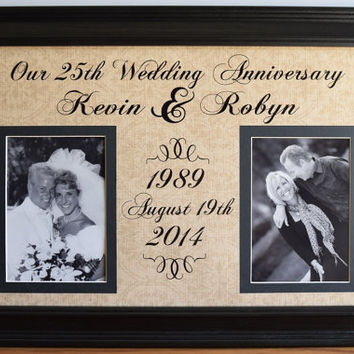 Wedding Anniversary Frame - Anniversary Gift for Wife - Anniversary Keepsake - Anniversary Gifts for Men - Grandparent Anniversary - 21x15