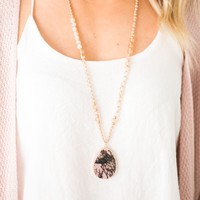 Natural Instincts Stone Pendant Necklace