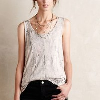 Mixed Marble Tank by Anthropologie Grey Motif