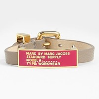MARC BY MARC JACOBS 'Standard Supply' Leather ID Bracelet
