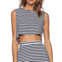 Lovers + Friends x REVOLVE Ludi Crop Top in Navy