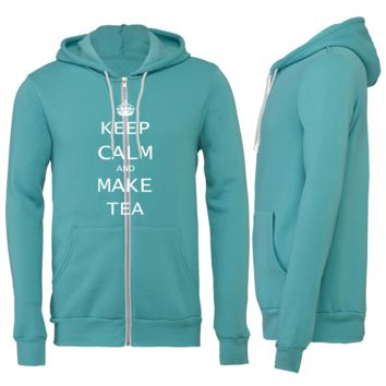 Keep Calm and Make Tea Zipper Hoodie