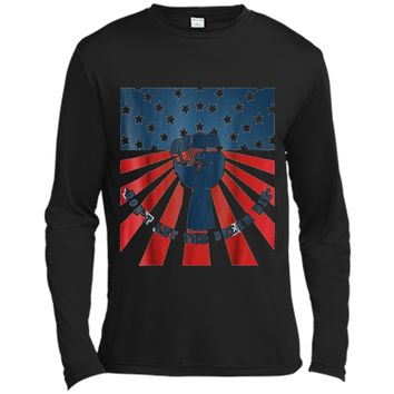 Don't Let The Dream Die  Peace Freedom Liberty Gift Long Sleeve Moisture Absorbing Shirt
