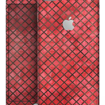 Red Watercolor Diamond Pattern - Skin-kit for the iPhone 8 or 8 Plus