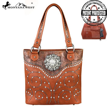 Montana West MW160G-8558 Concealed Carry Handbag