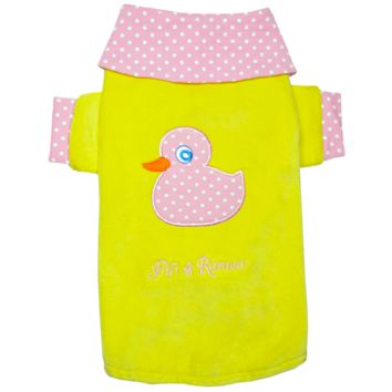 Fifi & Romeo Limited Edition Duckie Velour Shirt - Pink