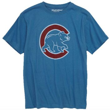 Chicago Cubs Youth Distressed Walking Bear Vintage Tee By Wright & Ditson