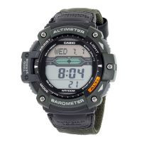 Mns Multi-Task Gear Digital Nylon Strap Twin Sensor,, World Time 5 Alarms,, Stopwatch WR 100M -ww