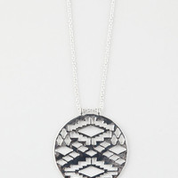 Full Tilt Tribal Cut Out Disc Pendant Necklace Silver One Size For Women 26384814001