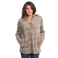 Heather Sherpa Pullover with Pockets in Caribou by The Southern Shirt Co. - FINAL SALE