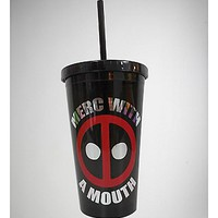 Merc Deadpool Cup with Straw 16 oz - Spencer's