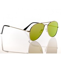 Green Flat Line Sunglasses
