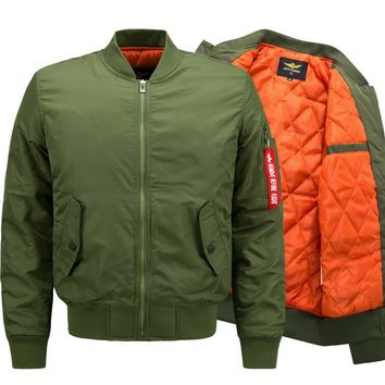 New Winter Ma1 Thick Bomber Jacket Men Air Force Hip Hop Patch Slim Pilot Flight Army Military Jacket Outwear Tactical Coat 6XL