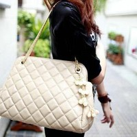 YESSTYLE: Smoothie- Chain-Strap Quilted Shoulder Bag (Beige - One Size) - Free International Shipping on orders over $150