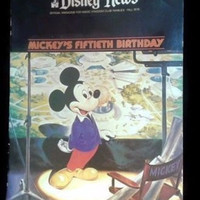 Vintage Disney News Official Magazine Mickey's Fiftieth Birthday Fall 1978 Retro Gift Walt Disney Souvenir Memorabilia Old