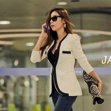 PEAPIX3 Blazer Jacket Suit Women Suit Fashion Slim Long Sleeve Blazer Jacket