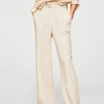 Belt line trousers - Women | MANGO USA