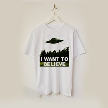 I Want To Believe x-files T-shirt unisex adults USA