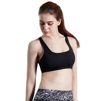 HimanJie  Quick Dry Black Bandage Strappy Bra Crop Top Tank Tops for Women Girls