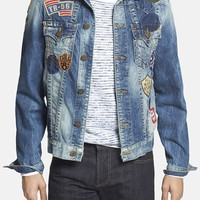 Men's True Religion Brand Jeans 'Jimmy' Patchwork Denim Jacket,