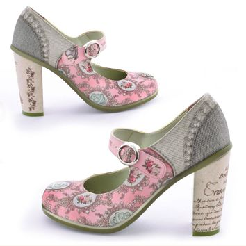 Chocolaticas® High Heels Marie Antoinette Women's Mary Jane Pump