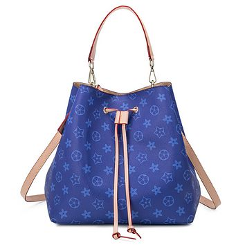 New fashion print shoulder bag handbag crossbody bag women Blue
