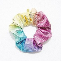 Metallic Scrunchie in Multicolour - Urban Outfitters