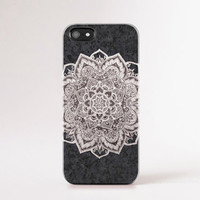 Grey iPhone 6 case, iPhone 6 Plus case, Mandala iPhone 5c case, Dark Grey Mandala iPhone 5 case, Tough iPhone 4 case Gray iPhone Case Boho