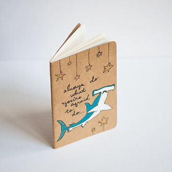10 Off Sale  Moleskine le hammerhead shark Cahier / by leanimale