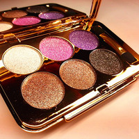 New Arrival 1 Set Flash Glitter 6-Color Shine Eye Shadow Palette Smoky Makeup Cosmetic 6 Styles