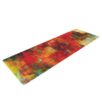 "Ebi Emporium ""Autumn Harvest"" Red Orange Yoga Mat"