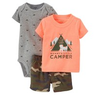 Carter's ''Mommy's Little Camper'' Tee & Camo Shorts Set - Baby Boy, Size: