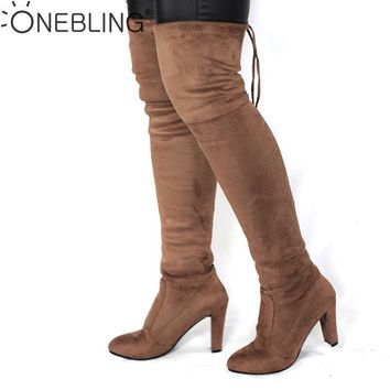 Thigh High Heel  Over the Knee Stretch Slim Boot