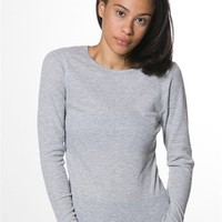 Thermal Long Sleeve Top - Heather Gray from Rosio USA at Lucky 21 Lucky 21