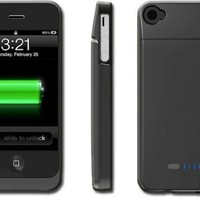 BOOST Case - Protective Case & Extended Battery for iPhone 4 4S (Fits All Models iPhone 4S /4)