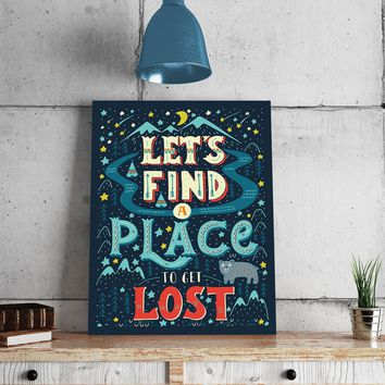 Let's Get Lost 11 x 14 Canvas Set (Free Shipping)