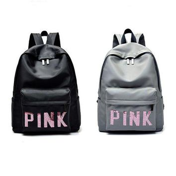 DCCK7BW Victoria's Secret PINK : Casual Sport Laptop Bag Shoulder School Bag Backpack