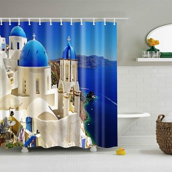 Fashion Polyester Fabric Shower Curtain