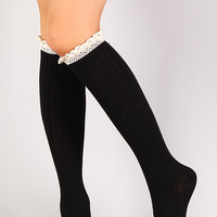 Main Frenchie Thigh High Socks