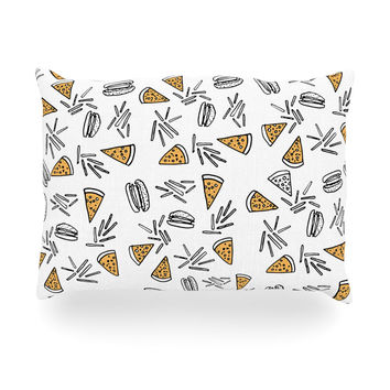 "Vasare Nar ""Burgers & Pizza"" Food Oblong Pillow"