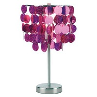 Paillette Table Lamp - Fuchsia