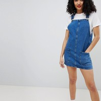 New Look Denim Pinny Dress at asos.com