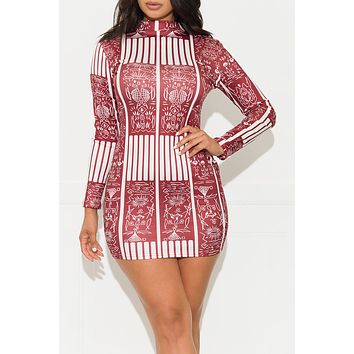 Only One For You Dress Burgundy