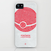 Pokemon Typography iPhone Case by Kody Christian | Society6