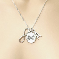 Personalized, Infinity, Pinky, Promise, Initial, Necklace, Infinity, Best, Friend, Necklace, Friendship, Necklace, Promise, Necklace
