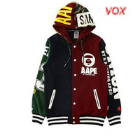 VXO kpop BTS JIMIN baseball uniform cotton hoodie  with hat BTS Bangtan Boys JIMIN Hoodies men  Sweatshirts  women